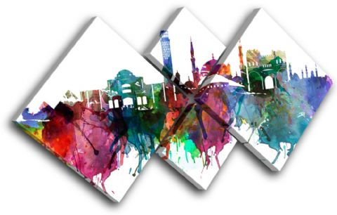 Cairo Watercolour  Abstract City - 13-6035(00B)-MP19-LO